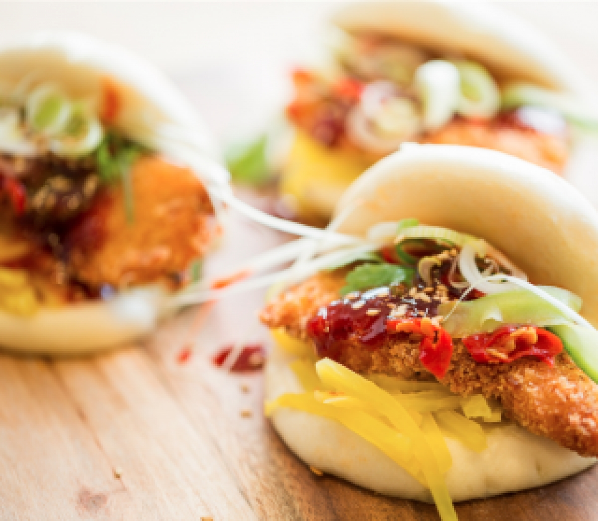 Bao Buns With Chicken Nuggets